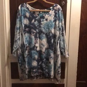 Lacy and sparkly floral blouse from the Avenue